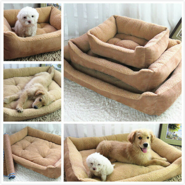 Pet Bed Cushion Mat Pad Dog Cat Cage Kennel Crate Warm Cozy Soft Pad Top selling