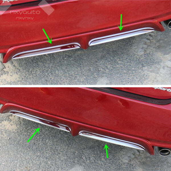 2X S.Steel Chrome Rear Bumper Lower Lip Trim for TOYOTA Camry SE XSE 2018-2020