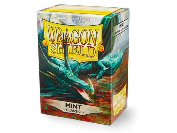 Classic Mint 100 ct Dragon Shield Sleeves Standard Size FREE SHIPPING 10% OFF 2 $8.85
