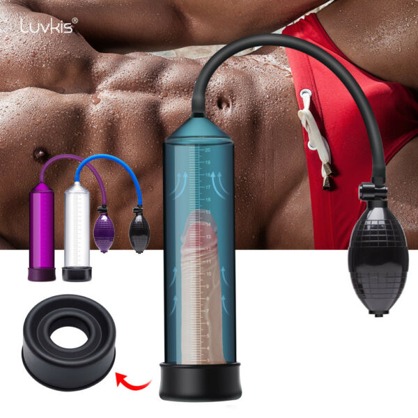 Vacuum Penis Pump Penis Enlarger Enhancer Bigger Growth Pumps Sleeve For Men