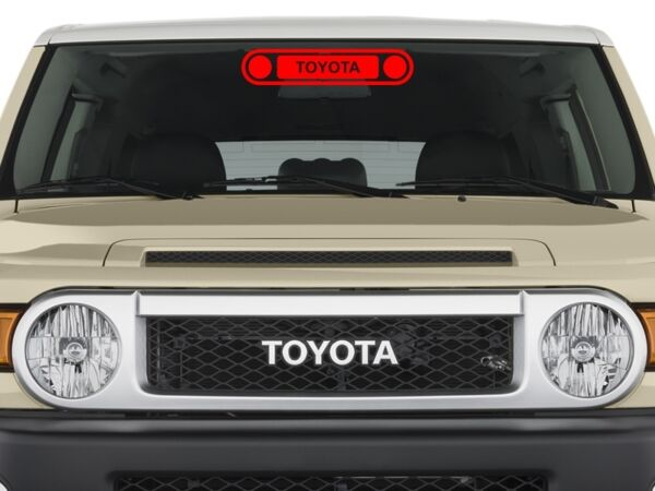 TOYOTA FJ CRUISER FRONT GRILL Sticker Decal ORIGINAL DESIGN