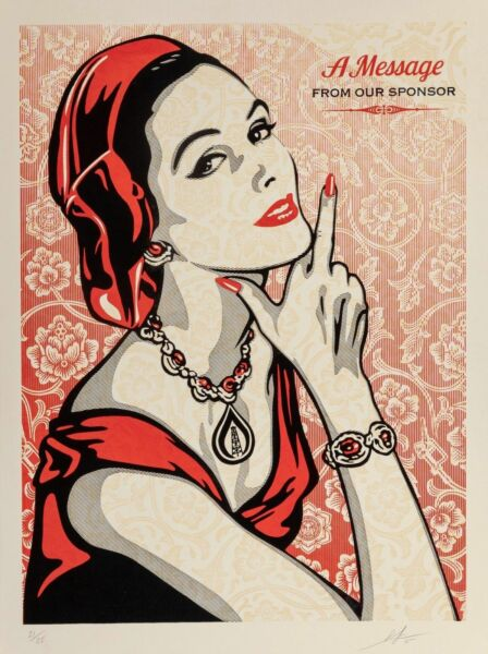 Shepard Fairey A Message From Our Sponsor Relief Edition PRINT Poster OBEY GIANT