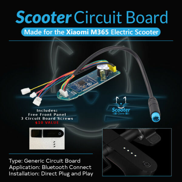 Scooter Circuit Board Replacement for Xiaomi M365 + FRONT PANEL+ 3 Screw  *USA*