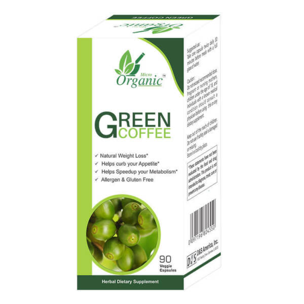 GREEN COFFEE BEAN EXTRACT FOR WEIGHT LOSS SUPPRESS APPETITE 90 Veggie Capsules