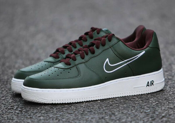 NIKE Air Force 1 Low Retro Multi Sizes Hong Kong Deep ForestWhite 845053 300