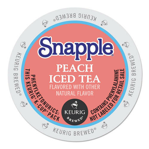 Flavored Iced Tea K-Cups Peach 22Box