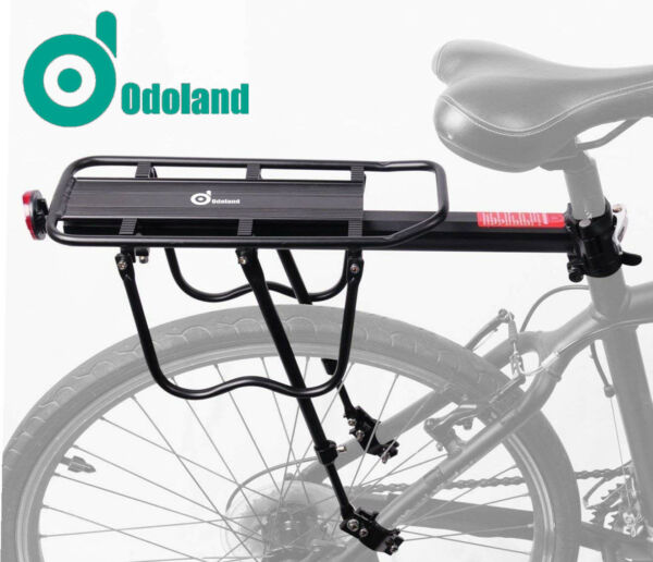 Rear Bike Rack Bicycle Cargo Rack Quick Release Alloy Carrier 110 Lb Capacity $29.99