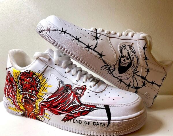 Custom Painted Sneakers Nike Air Force Ones - Made To Order