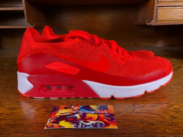 Nike Air Max 90 Ultra 2.0 Flyknit Mens Red Running Shoe 875943-600 NEW MULTI SZ