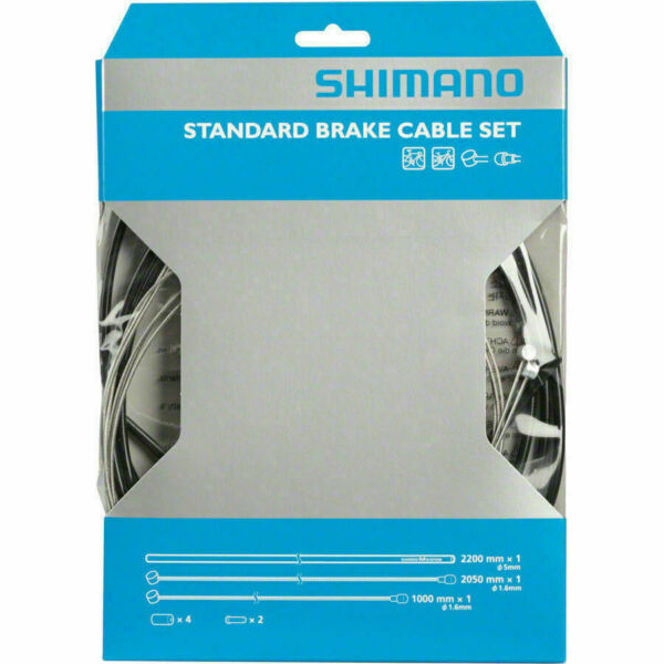 New Shimano Bicycle Front and Rear Road MTB Brake Cable and Housing Set Black $16.23