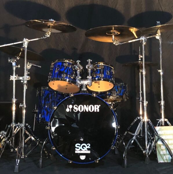 SONOR SQ2 Drums in TRIBAL BLUE Lacquer
