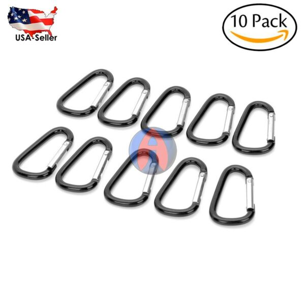 10x Alloy Aluminum Carabiner Clip Hook Outdoor Buckle D Ring Key Chain Keychain  $6.99