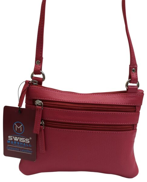Womens Genuine Leather Small Crossbody Shoulder Designer Bag and Ladies Purse $27.99