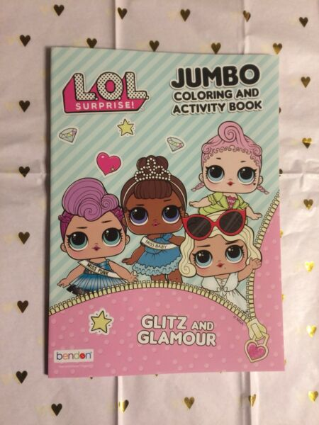 LOL Surprise! Glitz & Glamour 80 Page Coloring & Activity Book Stocking Stuffer