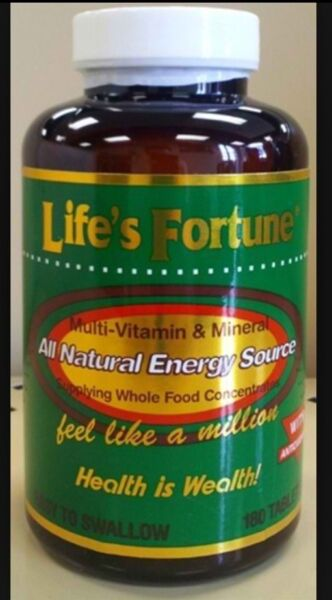 **Award Winning** Lifes Fortune Multi Vitamin And Mineral Supplement 180 Count
