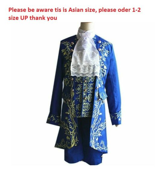 Movie Prince Beauty and The Beast cosplay costume Halloween for adult outfit ZG $55.99