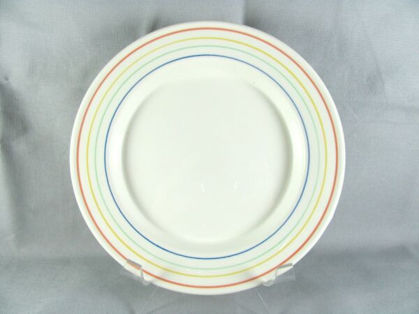 Nikko Circus Salad Plate 7 5 8 Tablemates 4 avail multicolor bands fiesta