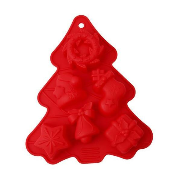 Xmas Tree Silicone DIY Cake Decorating Mould Cookies Chocolate Baking Mold WT