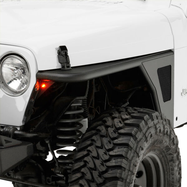 Fits 97-06 Jeep TJ Wrangler Front Fender Flares WEagle Light Steel Tube