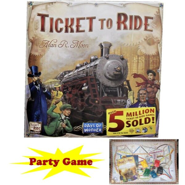 Ticket to Ride Train Adventure Board Game Party Home Game Gift Free Shipping us