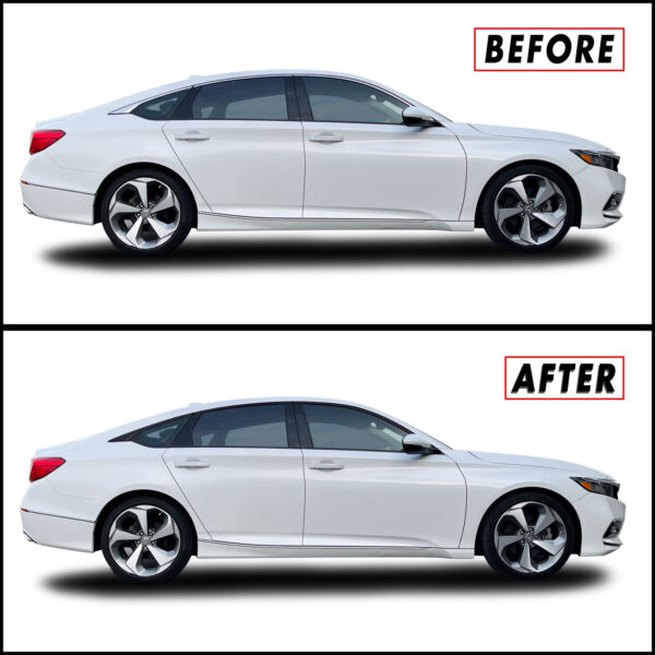 Chrome Delete Blackout Overlay for 2018 20 Honda Accord Sedan Window Trim