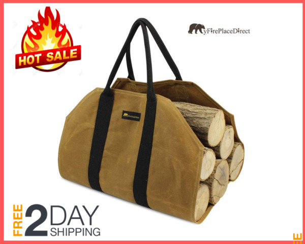 Wood Carry Bag Firewood Carrier Durable Fireplace Wood Bag Water Resistant