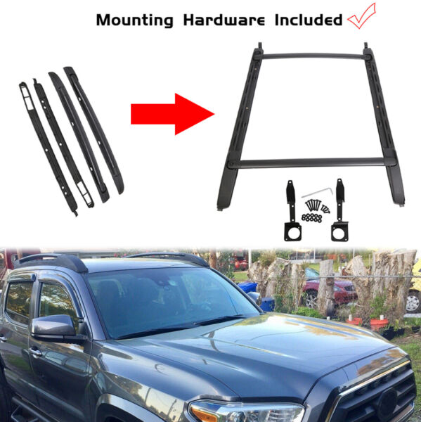 For 05 20 Toyota Tacoma Double Cab Luggage Carrier Roof Rack Crossbar Side Rails $109.90