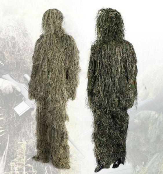 MILITARY GHILLIE SUITS WOODLAND DESERT CAMO CLOTHING TACTICAL HUNTING GEAR SET