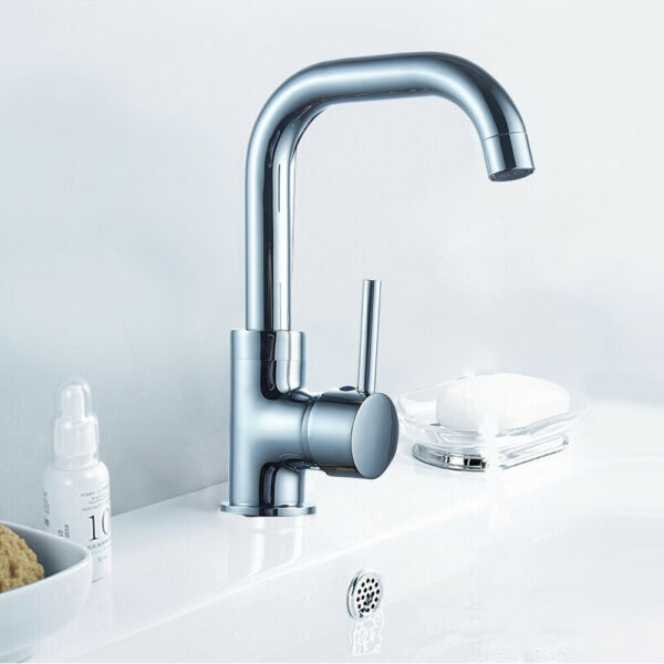 Modern Waterfall Bathroom Sink Faucet Mixer Tap Basin Filler Brass One Handle