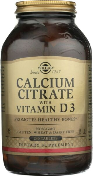 Solgar Calcium Citrate with Vitamin D3 240 Tablets $21.68