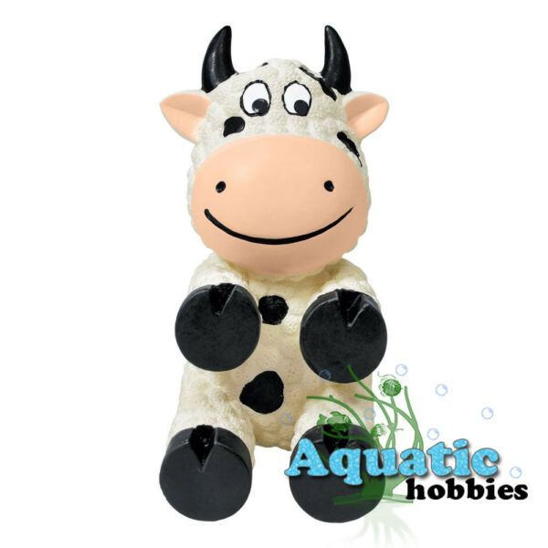 Kong Wiggi Cow Small Squeaks Fun Interactive Play Toss Toy Dog