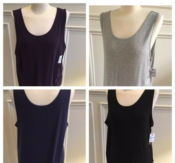 Sonoma Women's Layering Tank Black Purple Blue Plus Size 1X 2X - NEW MSR $16