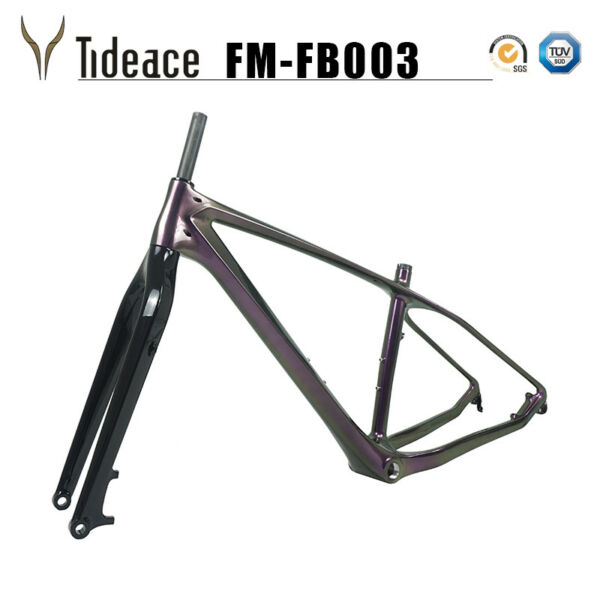 Chameleon Purple 26er T800 Carbon Fiber Snow Bicycle Frames OEM Fat Bike Frames