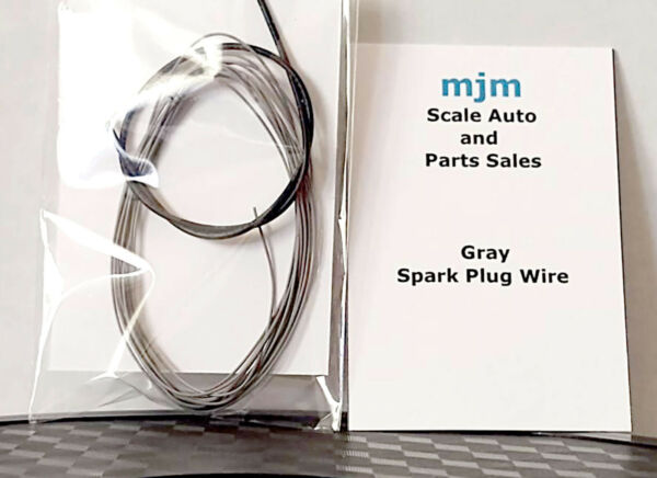 5 Feet Gray Spark Plug Wire for 124 125 Scale Model Car Detailing Parts