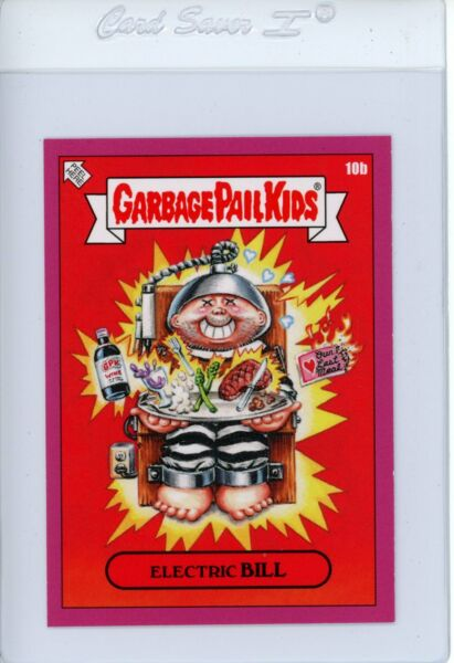 2019 GPK Valentine's Day is Gross ELECTRIC BILL 10b Pink Garbage Pail Kids