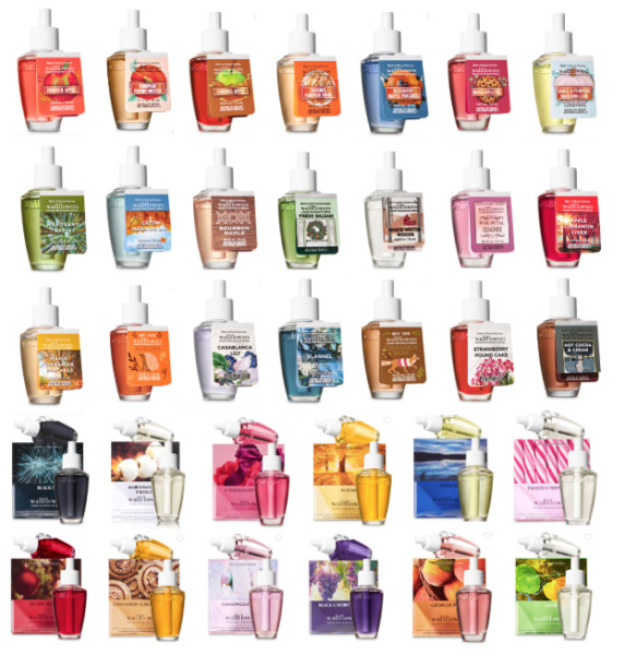 Wallflowers Bath and Body Works Refill 2 Pack or Single Big Selection Scents $8.99