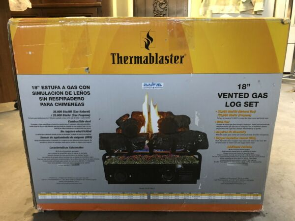 """Thermoblaster 18"""" Vented Gas Log Set In A Box"""