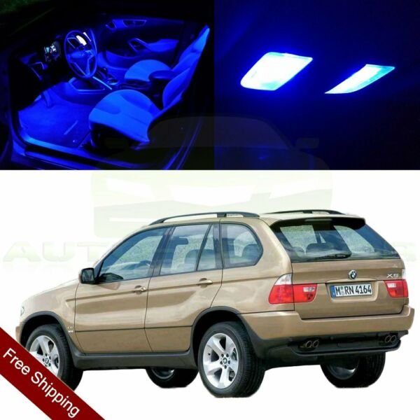 22X Blue Interior LED Package Light Bulbs For 2000-2006 BMW X5 No Error Deluxe