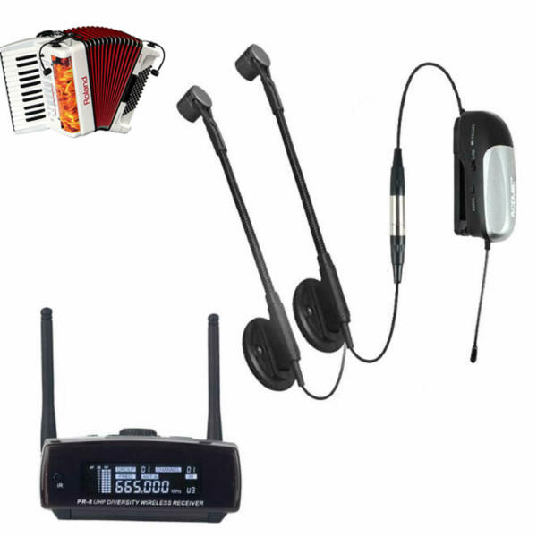 UHF Professional Wireless Instrument Microphone System for Accordion