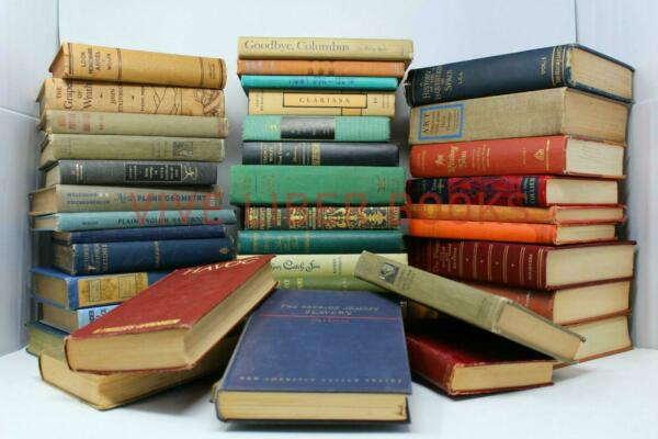 Lot of 10 Vintage Old Rare Antique Hardcover Books - Mixed Color - Random