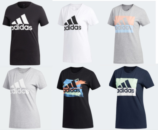 Adidas Badge of Sport Tees Womens Authentic New Short Sleeve T Shirts XS to XL $21.99