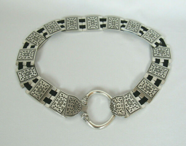 VTG 1970s 80s TOOLED METAL LINK BELT CAN WEAR FROM 38