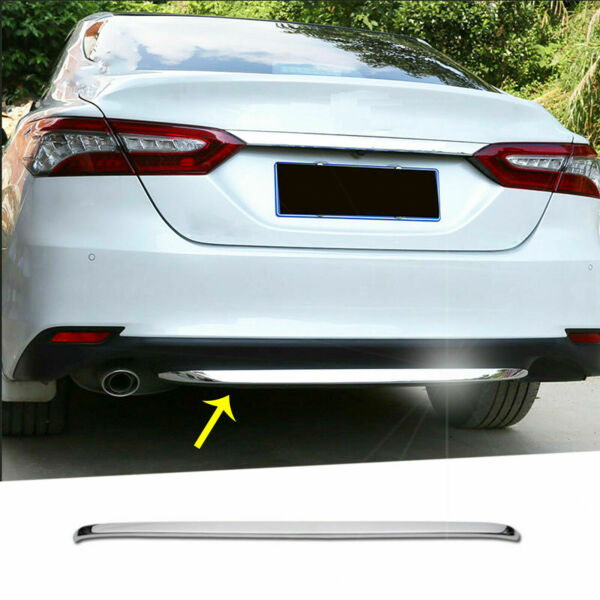 For Toyota Camry LE XLE 2018 2019 Chrome Trim - Rear Bumper Lower Lip Cover