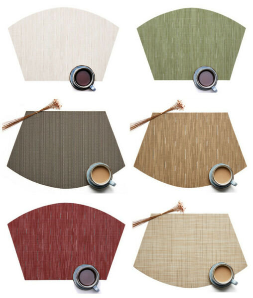 Placemats for Round Table Set of 6pcs Wedge Kitchen Table Mats Us Shipping