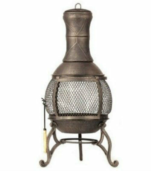 Corona Cast iron Wood Burning Chiminea by DeckMate