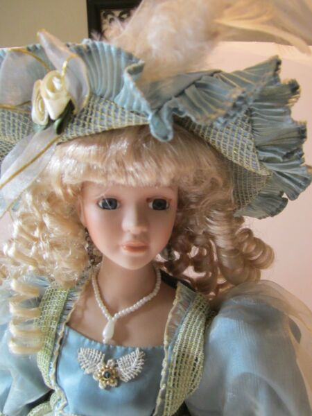 Collector's Choice Blond Curly Hair Porcelain Doll 16