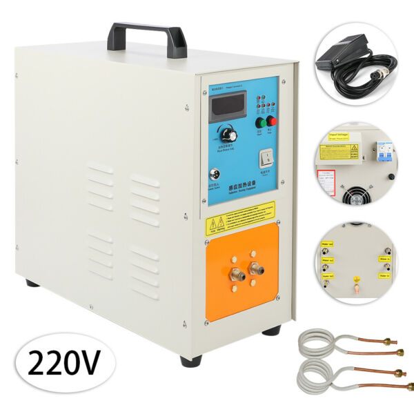 220V 15 KW 30-100 KHz High Frequency Induction Heater Furnace 2200 ℃ (3992 ℉)