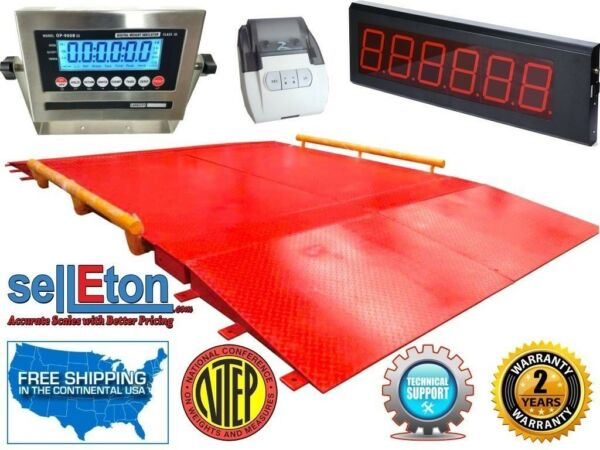 10' x 30' Heavy Duty Industrial Scale Weighing Axle 60000 lbs Legal for Trade