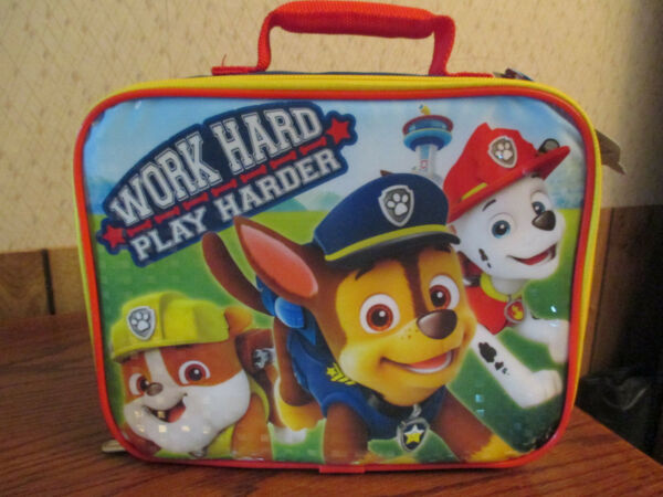 **NEW** Paw Patrol Soft Shell Insulated Lunch Bag Pail Box Bucket Nickelodeon