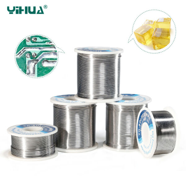 YIHUA Rosin Roll Core Solder Wire Tin Solder Welding Iron Reel Tin 0.5 0.6 0.8mm